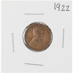1922 Lincoln Wheat Cent Coin
