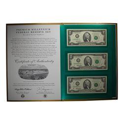 1995 $2 Premium Millennium Federal Reserve Set