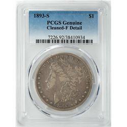 1893-S $1 Morgan Silver Dollar Coin PCGS Fine Details
