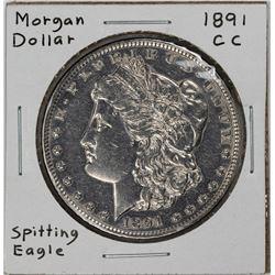1891-CC $1 Morgan Silver Dollar Coin Spitting Eagle