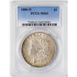 1886-O $1 Morgan Silver Dollar Coin PCGS MS61
