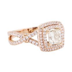 14KT Rose Gold 1.64 ctw Diamond Ring