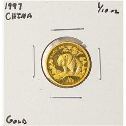 1997 China Panda 1/10 oz Gold Coin