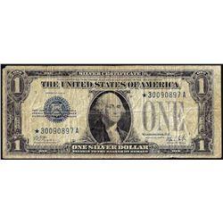 1928B $1 Funnyback Silver Certificate STAR Note