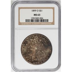 1899-O $1 Morgan Silver Dollar Coin NGC MS63 Nice Toning
