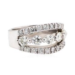 14KT White Gold 1.95 ctw Diamond Wedding Band