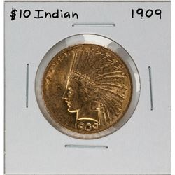 1909 $10 Indian Head Eagle Gold Coin