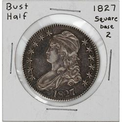 1827 Square Base 2 Capped Bust Half Dollar Coin