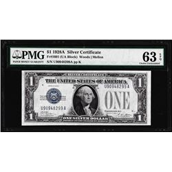 1928A $1 Funnyback Silver Certificate Note Fr.1601 PMG Choice Uncirculated 63EPQ