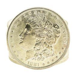 Roll of (9) Brilliant Uncirculated 1881-S $1 Morgan Silver Dollar Coins