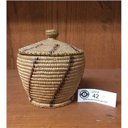 Nice Lidded Native Basket. Came from Central BC