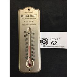 """Cottage Realty Kent Washington Thermometer 6"""" Tall"""