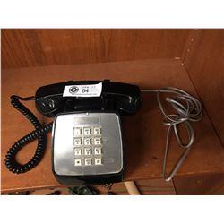 Vintage BC-Tel Black Push Button Phone. 1980's-90's