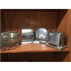 4 Vintage Toasters 1940's-50's As is