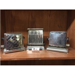 3 Vintage Toasters 1940's-50's As is