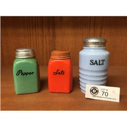 Mismatched lot of 3 Salt & Pepper Shakers