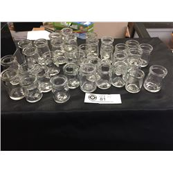 Lot of Vintage Glass Creamers Various Markings 34 in Total