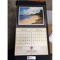 1965 Cheveron Calander In Great Shape! Southway Service White Rock BC