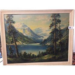 Vintage 1960's Big Oil Painting. By W.M.Thom