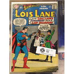 DC Comics Superman's Girlfriend Lois Lane No.75 In Plastic Bag on White Boards