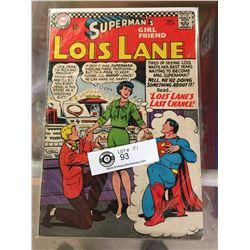 DC Comics Superman's Girlfriend Lois Lane No 69 In Plastic Bag on White Boards