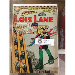 DC Comics Superman's Girlfriend Lois Lane No 66 In Plastic Bag on White Boards