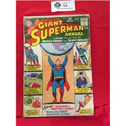 DC Comics Giant Superman No.8 In Plastic Bag on White Board