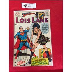 DC Comics Superman's Girlfriend Lois Lane  No 80 In Plastic Bag on White Board