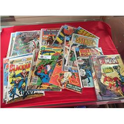 Lot of 22 12 cent-75 cent Comics Some in Bags on White Boards