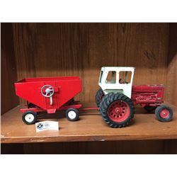 International Farmall 1450 Tractor with Trailer