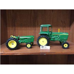 2 Vintage John Deere Tractors made by ERTL