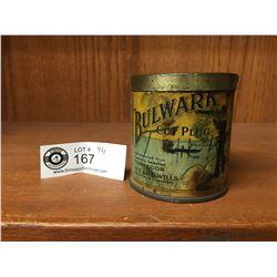 "Vintage 1930's-40's Balwark Cut Plug Tobacco Tin. 2.5"" Diameter 3"" H"
