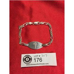 Vintage Sterling Silver Medical Bracelet
