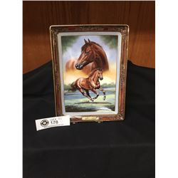 "Limited Edition Franklin Mint Plate "" Thoroughbred. Portrait of a Champion"" 6.5x9"