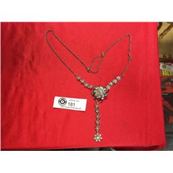 Nice Quality Rhinestone Floral Necklace