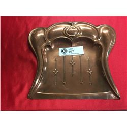 Art Nouveau Copper Crumb Tray 10 x 8.5