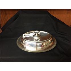 Antique Silver Entrée Dish 11 x 8 x 5.5