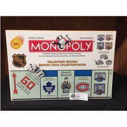 Parker Brothers Monopoly Board Game NEW Sealed in Box.NHL Edition