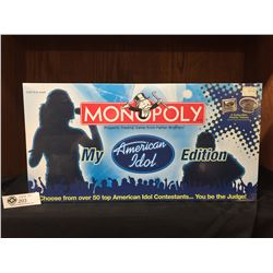 Parker Brothers Monopoly Board Game NEW Sealed in Box.My American Idol Edition