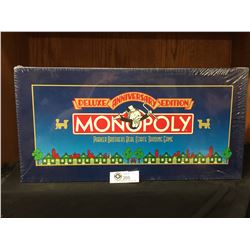 Parker Brothers Monopoly Board Game NEW Sealed in Box.Deluxe Anniversary Edition * Damage to Corner