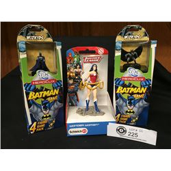 2 DC Hero City Game Packs and a Justice League Wonder Woman Figure