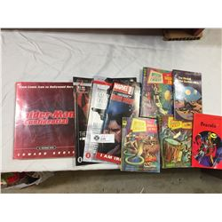 Lot of Comic Related Books and 3 Mystery Comic Digests