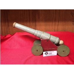 1920's -30's wooden Folk Art Cannon That shoots. Great Looking Piece! Knob Pulls Back, Spring Loaded