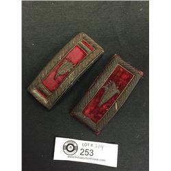 Vintage Military American Fraternal Shoulder Boards Epaulettes