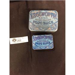 2 Edgeworth Plug Slice Tobacco Tins