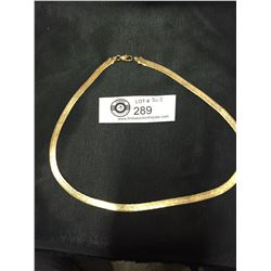 Quality Gold Plated Herringbone Necklace
