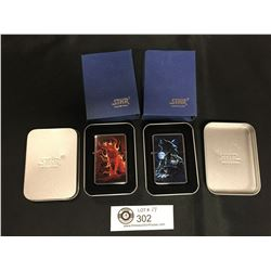 2 Brand New Star Lighters in Tin Cases and Original Packages