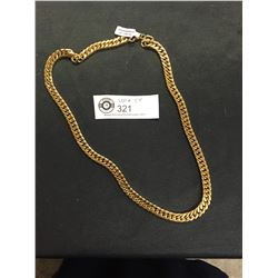New 24 Inch 24kt Gold Plated Stainless Steel Link Chain