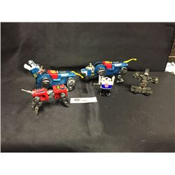 2 Toy Mechanical Dogs Plus 3 Transformers cars