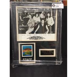 """Boston Rock N Roll Legands Frame With 1979 Eurotour Staff Pass and Band Photo 11.5"""" x 14.5"""""""